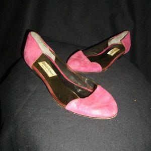 Giorgio Armani Fuchsia Clear Suede Shoes